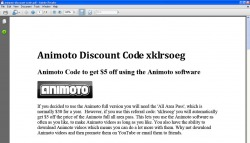 Click to view Animoto Discount Code v1.0 screenshot